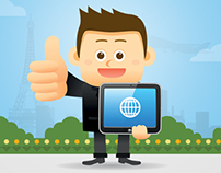 Online Education (E-learning) Concept