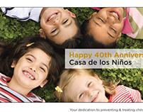 Casa De Los Ninos Sponsorship ad