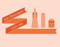 San Francisco Icon Set