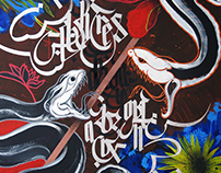 """""""TROPICAL INCIDENT"""" Contemporary art. Calligraphy"""