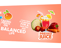 Web banners for an online cold pressed juice website!