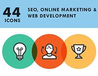 SEO, Internet Marketing & Web Development Icon Set