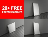 20+ Free Poster Mockups