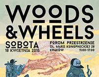 Woods & Wheels Longboard Market Poster