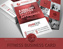 Fitness / Gym – Sports Business Card