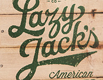 Vintage style hand lettering for cider label