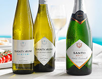 PACKAGING FOR SANTORINI, GREECE WINE