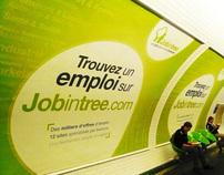 Affiche 4x3 métros parisiens (Jobintree )