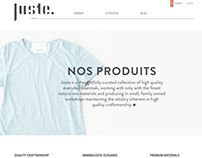 Juste - Website