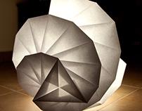 Spiral Origami Lamp