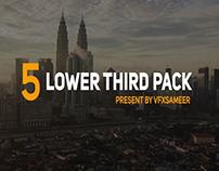 5 Lower Third Animation