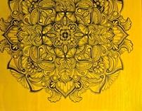 Sinking Stones Fly, Yellow Mandala