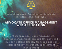 Advocate office management web application