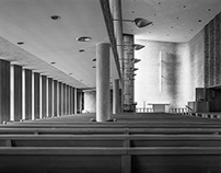 4x5: Christ Church Lutheran - B&W