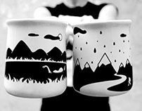 Mugs and tea pot / Tazas y tetera (Niños salvajes)
