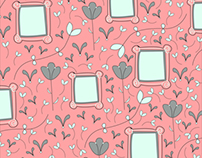 Flowers & Frames Pattern