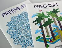 The PREEMIUM magazine. Covers and content design