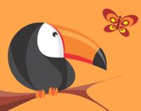 Ilustrações pássaros
