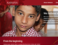 Aahana Website Mockup