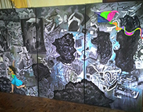 Syriana, Triptych, Oil on Canvas