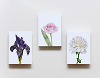 Flower Cards- watercolor painting