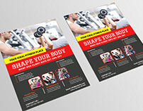 Body Fitness Gym Flyer Template