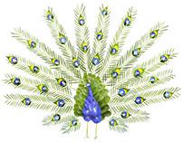 Birds made of flowers