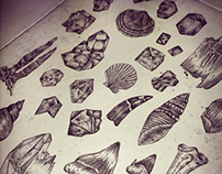 Geology A4 Etching