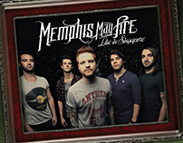 MEMPHIS MAY FIRE Live in Singapore Poster