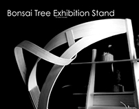 Bonsai tree exhibition stand
