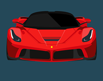 Flat Design Super Car Illustrations