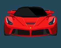 Flat Design Super Car Illustrations