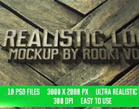 Realistic Logo Mockup Vol.3