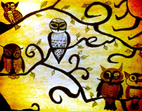 The wide awake owl, story illustration