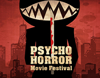 Horror Movie Festival Postcard Design