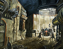 """Art for the boardgame """"Scrap Stations"""""""