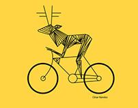 Diseño de carteles México sobre dos ruedas