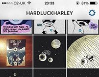 Hard Luck Harley Comic Panels and Strips