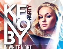 White Night Club Poster