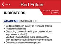 Red Folder App Mockup