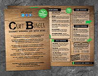 Craft Burger Menu design