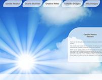 Original, handcoded web design of www.camilleweston.com