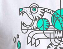 Tiger T-shirt print.