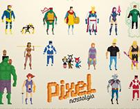 Pixel Nostalgia Poster