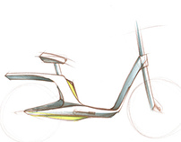 Electric Bicycle Concept Sketch