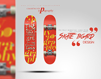 Skateboard ft Typography
