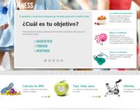 """Falabella """"Fitness"""" minisite"""
