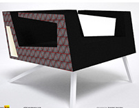 """Warm pulse"" armchair and sofas concept"