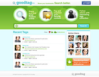 goodtag website layout