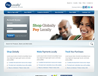 PayLocally website layout